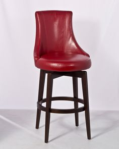Santa Anita Swivel Counter Stool w/Red Vinyl - Cappuccino