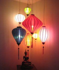 Afbeeldingsresultaat voor gekleurde hanglampen