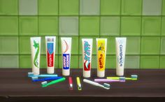 Take care of your teeth, sims! DL Toothpaste Mesh by Sim4fun (thanks for sharing!)DL Toothbrush, extracted. 8 rcSimlish by ajaysims, gazifu and SIMale/Made with Sims 4 Studio