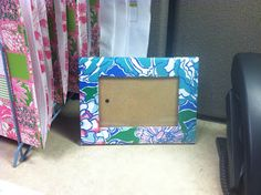 Awesome Tickled Pink | 2012 04 16 DIY: Lilly Wooden Frame And Tissue Box