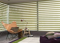 Garden green Twist™ Roller Blinds bring the feeling of the outside in.  #luxaflex#blinds #home decor