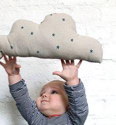 Linen Star Cloud Cushion