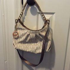 Michael Kors Monogram Vanilla Handbag