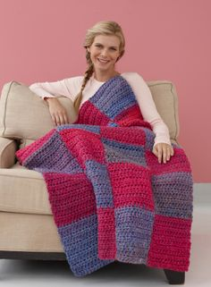 This Rise and Shine Afghan, crocheted with Hometown USA, can be customized in the colors of your high school graduate's college of choice, and is perfect to drape over a dorm room bed!