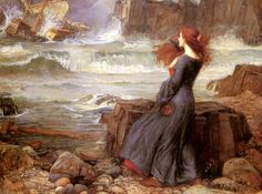 The painting that inspired the ship's insignia. Waterhouse from 1910.