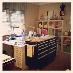 idea for my sewing room - turn sewing table sideways ?
