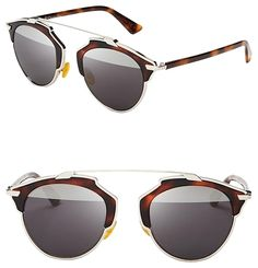 c2ed38d800d Dior  So Real  48mm Mirrored Sunglasses Palladium Tortoise. Free shipping  and guaranteed. Tradesy