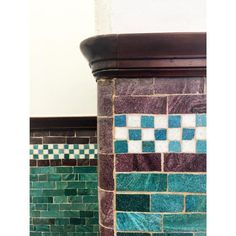Beautiful tiles restored at the Employment Academy, Peckham. Preserved for years fantastic… http://ift.tt/1h8rrEa