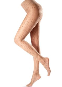 Oroblu Cloe pantyhose soft dotted pattern in constrast with the background