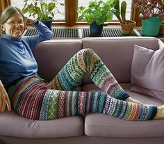 Fair isle leggings.  For me, it's not just the hilarity of the long johns. It is also how this woman is totally rocking them.