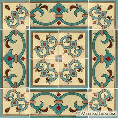 Mexican Tile - Sonoma 6 Border Malibu Ceramic Tile