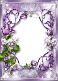 Transparent Purple Frame | Creative photo frame for women's images in purple tones with ...
