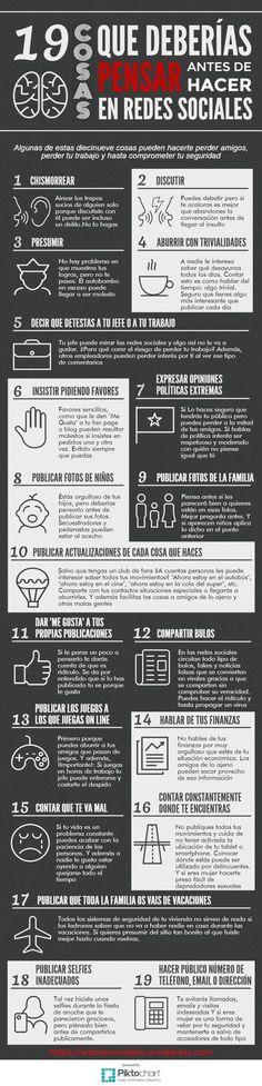 Infografía Redes Sociales Cosas que nunca deberías publicar en las redes sociales