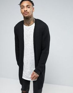 ASOS Super Longline Cable Knit Cardigan