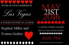 Items similar to Las Vegas Wedding Invitations on Etsy Little White Chapel, Vegas Fun, Las Vegas Blvd, Las Vegas Weddings, Wedding Invitation Design, Youre Invited, Wedding Themes, Getting Married, Etsy