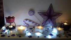 White stars...purple stars...