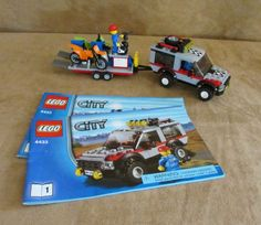 4433 Lego City Dirt Bike Transporter Complete instructions town truck motorcycle #LEGO