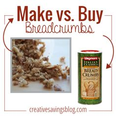 Don't waste money on stale breadcrumbs from the store. This easy homemade recipe comes together in less than 10 minutes, and is so flavorful!