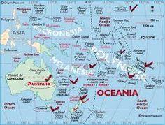 Resultado de imagen de mapas de oceania