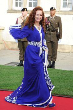 Caftan Marocain - Takchita 2013 - 2014 : Vente Location Caftan au Maroc: Caftan de Bleu Lalla Salma - Cérémonie de mariage du Prince Guillaume