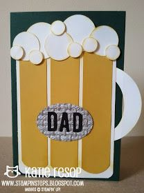 """Here are a couple masculine projects being offered in my """"Dear Dad"""" Stampin' Steps class. Scrapbooking, Scrapbook Paper Crafts, Scrapbook Cards, Paper Quilling Cards, Boy Cards, Cards Diy, Dear Dad, Birthday Cards For Men, Happy Birthday"""