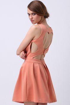 #Romwe Heart Cut Out Dress