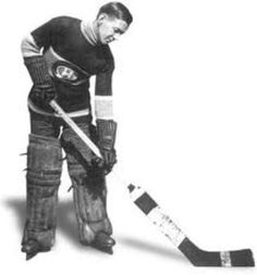 """Georges Vezina had one of the most original nicknames in hockey history: """"The Chicoutimi Cucumber."""" The name came from the small town in Quebec where he lived and the fact that writers said he was """"cool as a cucumber. Ice Hockey Teams, Hockey Goalie, Hockey Sport, Hockey Girls, Hockey Mom, Montreal Canadiens, Montreal Hockey, Ranger Sport, Good Nicknames"""