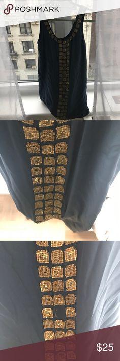 Haute hippie dress Aqua silk dress with gold mesh details Haute Hippie Dresses Mini