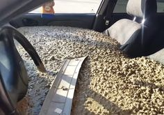 Russian man fills his wife's car with concrete to get back at her after she changes her name, films the whole thing