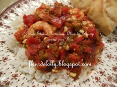 Fleur de Lolly: Creole Stewed Tomatoes, Okra & Shrimp over Rice