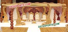 #WEDDING #WOODEN #CARVED #MANDAP #DSTEXPORTS