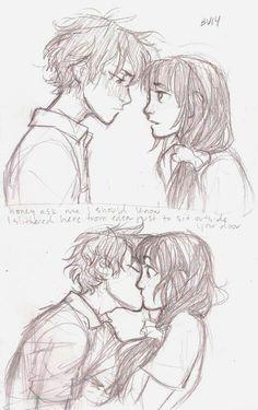 Houtaroh and Chitanda | Hyouka | Anime | Fan Art