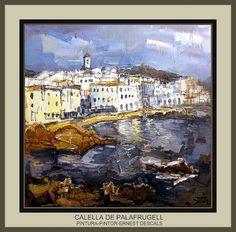 CALELLA DE PALAFRUGELL-PINTURA-GIRONA-CATALUNYA-PINTOR-ERNEST DESCALS