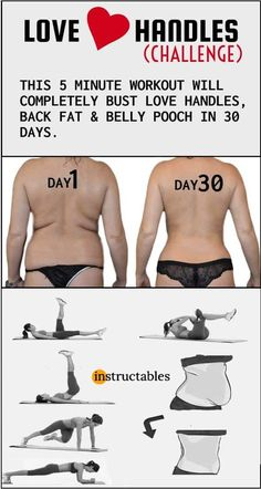 LOVE HANDLES - This 5 minute workout will completely burn your love handles, back fat & belly fat. Love Handles Challenge, Pilates, Health And Fitness, Fitness Abs, Fitness Exercises, Workout Fitness, Fitness Tracker, Chest Exercises, Shape Fitness