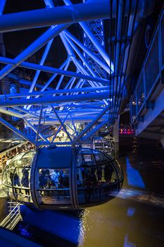 Touristy but fun! Hop on the London Eye at night for a gorgeous aerial view of London > read more on shershegoes.com