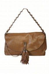 Tan Clutch Bag