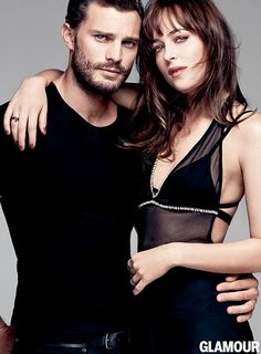 Now this is a hot picture! Jamie Dornan Joins Fifty Shades of Grey Co star Dakota Johnson for Glamour March 2015 Cover Shoot Fifty Shades Of Darker, Shades Of Grey Movie, Christian Grey, Jamie Dornan, Fifty Shades Series, Fifty Shades Movie, Estilo Dakota Johnson, Cover Shoot, Mr Grey
