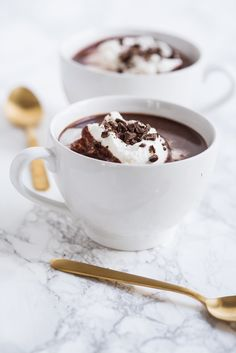 Visit The Sweetest Occasion for this delicious, decadent easy-to-make French hot chocolate recipe plus of other recipes, crafts and more! Winter Desserts, Desserts For A Crowd, French Hot Chocolate Recipe, Hot Chocolate Recipes, Chocolate Chocolate, Easy Homemade Desserts, Cake Recipes, Dessert Recipes, Drink Recipes