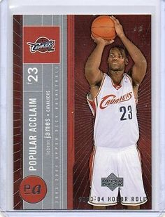 cool LEBRON JAMES Cavaliers 200304 UD Honor Roll Popular Acclaim Rookie Insert Card - For Sale View more at http://shipperscentral.com/wp/product/lebron-james-cavaliers-200304-ud-honor-roll-popular-acclaim-rookie-insert-card-for-sale/