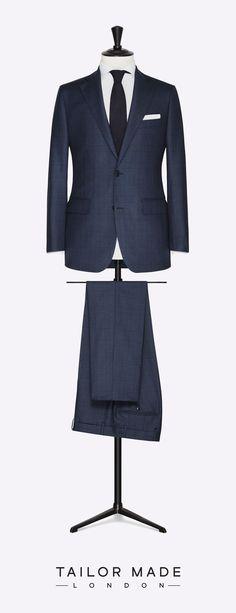 Tailor Made London navy blue 2-piece suit.