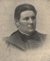 Lucina Hagman (5. June 1853 – 6. Sept. 1946), Finnish school principal. She founded the Martha Organization in 1899. * http://www.martat.fi/info/in-english/ * http://en.wikipedia.org/wiki/Martha_organisation *  Lucina Hagman was one of the first women elected to parliament in 1907. She was the first woman in Finland, who received the title of professor (in 1928).