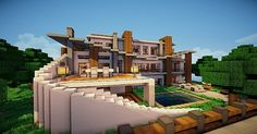 Modern Villa Minecraft World Save