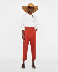 Image 1 of BUTTON WAIST TROUSERS from Zara
