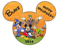 Disney Halloween Printable Iron On Transfer or Use as Clip Art by TheWallabyWay - Perfect for Mickeys Not So Scary Halloween Party! - DIY Disney Shirt - Fab 5
