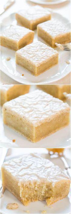 Fudgy Banana Bars with Vanilla Bean Browned Butter Glaze