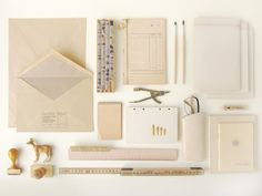 Swedish design office Kontor Kontur's latest project is this very cool still life series of everyday objects describing the craftsmanship behind graphic and office work. The visual arrangements primarily office supplies, are placed into color themed composition, which remind me a lot of the very cool website Things Organize Neatly and Carl Kleiner latest editorial. #inorder