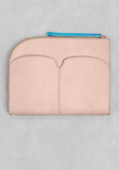 And Other Stories | Large Leather Clutch | Beige
