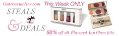 Black Friday starts today at TINte Cosmetics. get 50% off all our Flavored Lip gloss kits http://www.tintecosmetics.com/shop/steals-deals/
