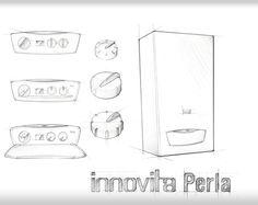 Perla - Boiler - Designed by Tensa Industrial Design, Italy #tensa #perla #industrial #design #boiler #water #caldaia #italy #innovita #hot #knob #sketch