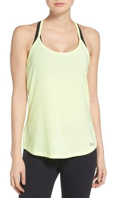 fly by racerback tank by Under Armour. Cut for a loose fit with a slim racerback for better reach and range of motion, a moisture-wicking mesh tank is desig...